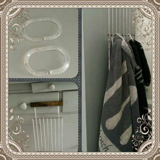 Bbq rooster, douchegordijn ringen en ophangen