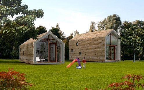 maison préfabriquée contemporaine écologique en bois EK 015 + EK 016 by ekokoncept eko koncept, wooden prefabricated buildings, d.o.o