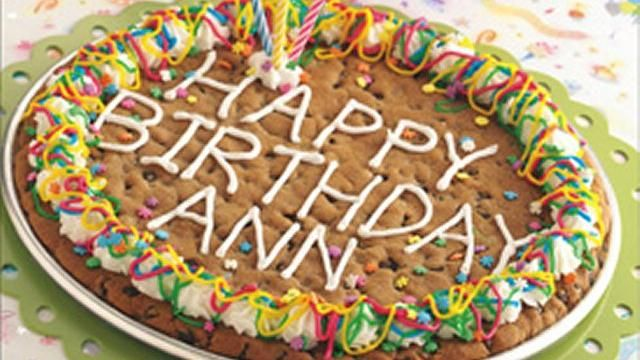 Say it a whole new way with a giant, chewy birthday cookie made easy with Pillsbury® cookie dough.