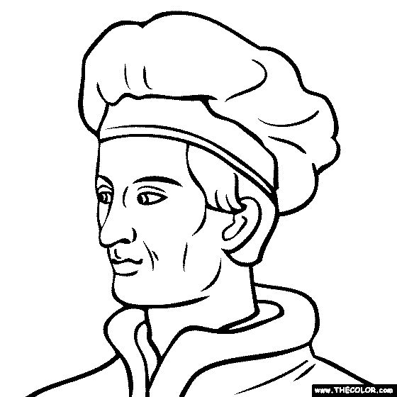 amerigo vespucci coloring page historical people