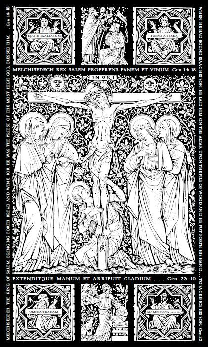 Catholic line art - The Crucifiction