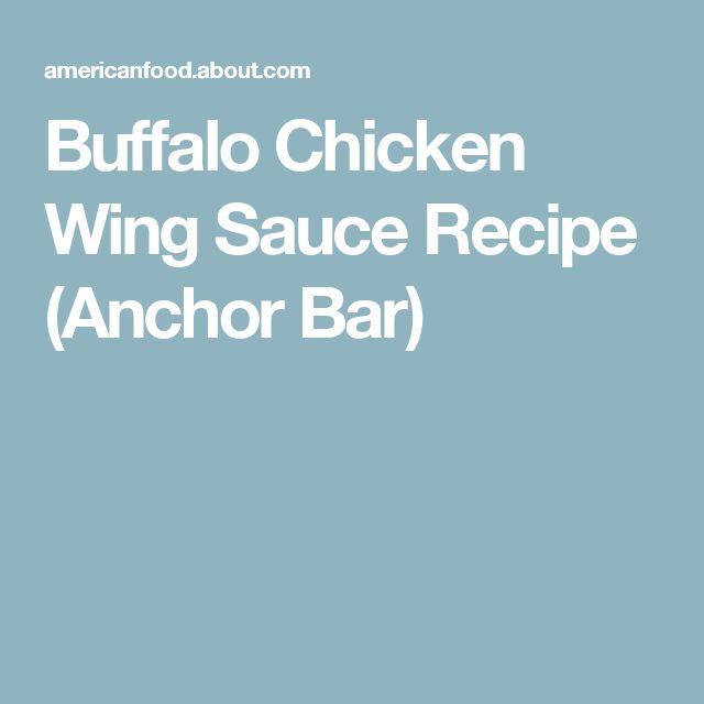 Buffalo Chicken Wing Sauce Recipe (Anchor Bar)