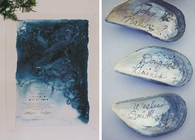 Elegant Coastal Wedding Invites via Coastal Bride