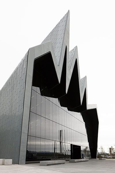 U.K. Scotland. Glasdow. Zaha Hadid's latest work for the Glasgow Transport Museum.G.T.M.