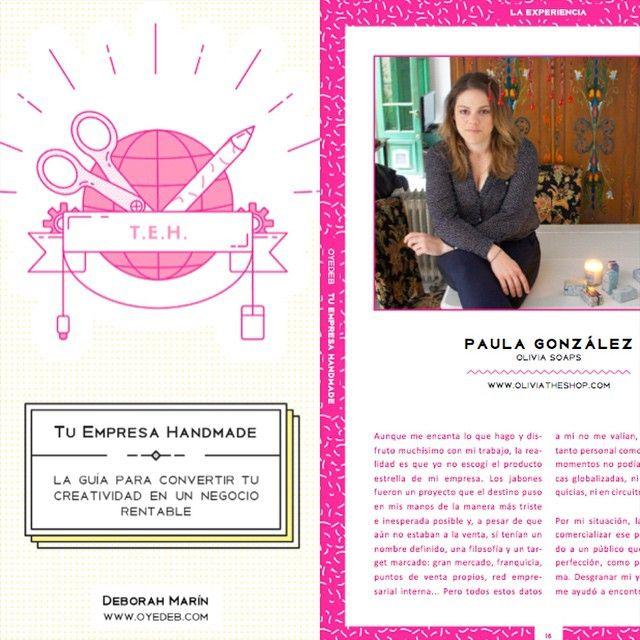 """@oliviasoaps en Instagram: """"Os conté que salimos en la  Gran Guía de tu Empresa Handmade  de @oyedeb ... #pueseso #nooslaperdais  http://www.oyedeb.com/tu-empresa-handmade/"""""""