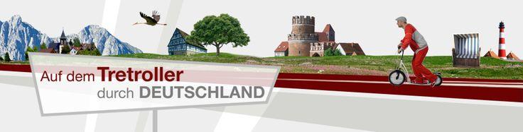 Auf dem Tretroller durch Deutschland - kann man Deutschland von Nord nach Süd auf dem Tretroller durchqueren? Und das in nur 80 Tagen? Euromaxx-Reporter Michael Wigge will es wissen. | DW.DE