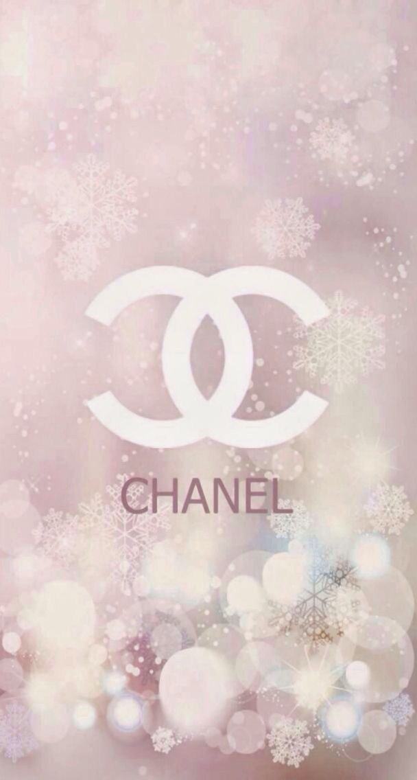 CHANELロゴ雪の結晶 iPhone壁紙 Wallpaper Backgrounds iPhone6/6S and Plus