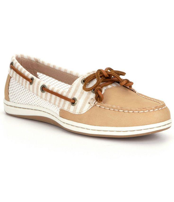 High quality Women s Boat Shoes Sperry Firefish Denim Stripe Women NavyModern design shoes