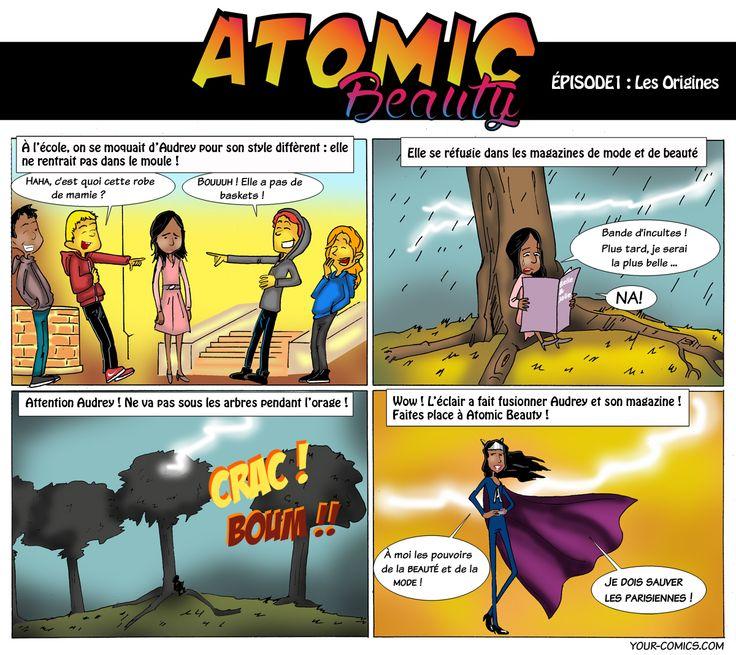 """RDV chaque lundi à 18h sur https://www.facebook.com/labeauteselonuneparisienne pour suivre les épisodes de ma web-série """"Atomic Beauty""""!  #BEAUTEPARISIENNE #BD #SUPERWOMAN #PARISIENNE #BEAUTY #COMICS #YOURCOMICS"""