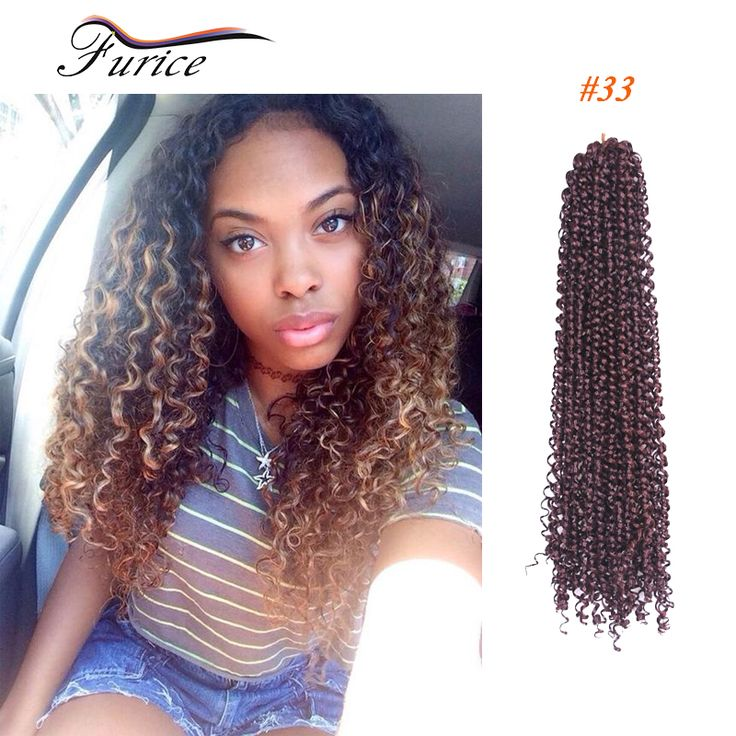 Freetress Syntheitc Curly Water Wave Crochet Marley Braids Hair Wave FreeTress Curly Deep Twist Braiding Hair