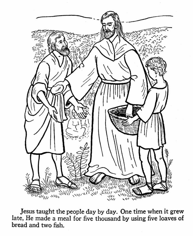 jesus caring coloring pages - photo#48