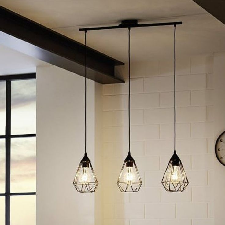 The industrial 3 open cage ceiling pendant is perfect for that Cafe retro theme to be added to your kitchen, with a rustic Black Finish this item could be placed in any room of your home. #ideas4lighting #clanyrelighting #pendants #tablelamps #art #design #floorlamps #eglo #2017 #ceilinglights #lighting #crystal #chrome #diamonds #cafe #restaurant #business #lights #future #outdoorlighting #outdoor #concrete #bathroom #bathroomlighting #mirrorlighting #blog #blogger #designerideas