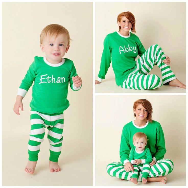 Free Shipping! Personalized Christmas Pajamas - Embroidered Monogram Christmas Pj's - Green and White Stripe Christmas Pajamas for family by JennLorynDesigns on Etsy https://www.etsy.com/listing/247238945/free-shipping-personalized-christmas