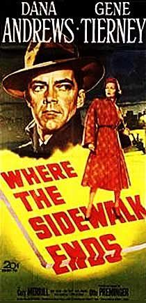 where the sidewalk ends movie poster | Where The Sidewalk Ends.