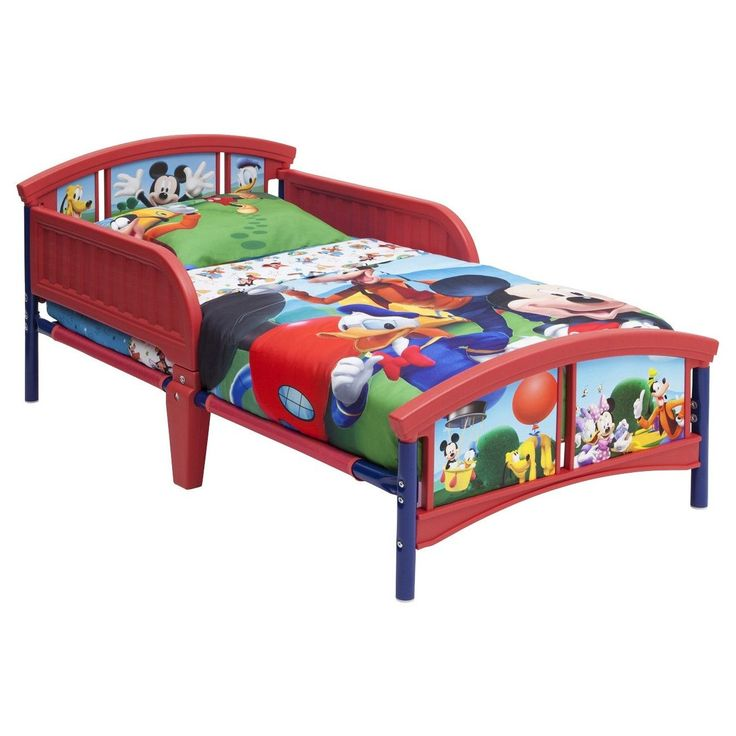 Delta Children Mickey Mouse Plastic Toddler Bed