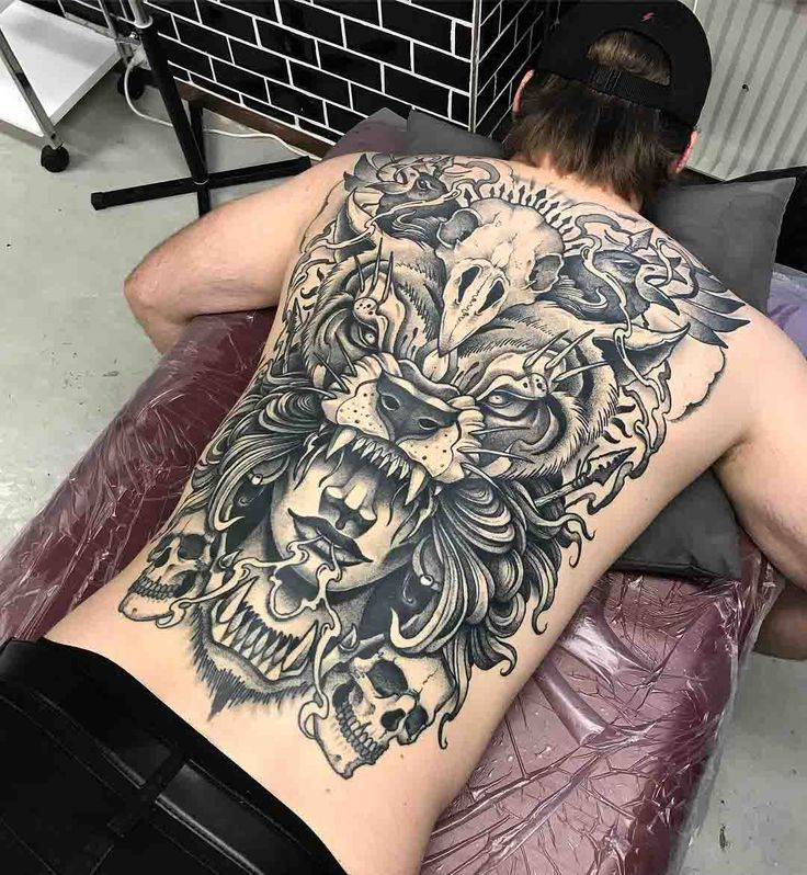 full back tattoo big scale