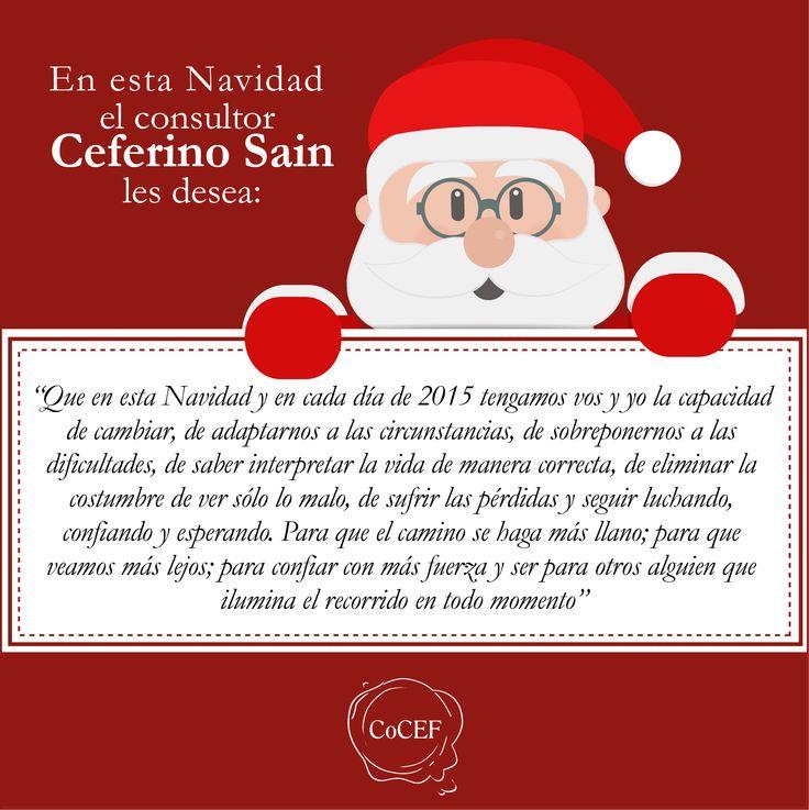 Saludo de Navidad del consultor Ceferino Sain
