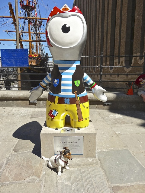 'Pirate' Wenlock mascot for the 2012 Olympics in London, England;  photo by anthonyfalla, via Flickr