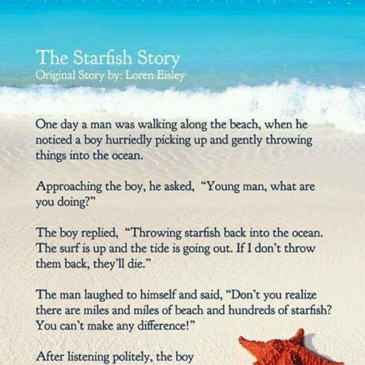 Starfish story | poster | Pinterest | Starfish and ...