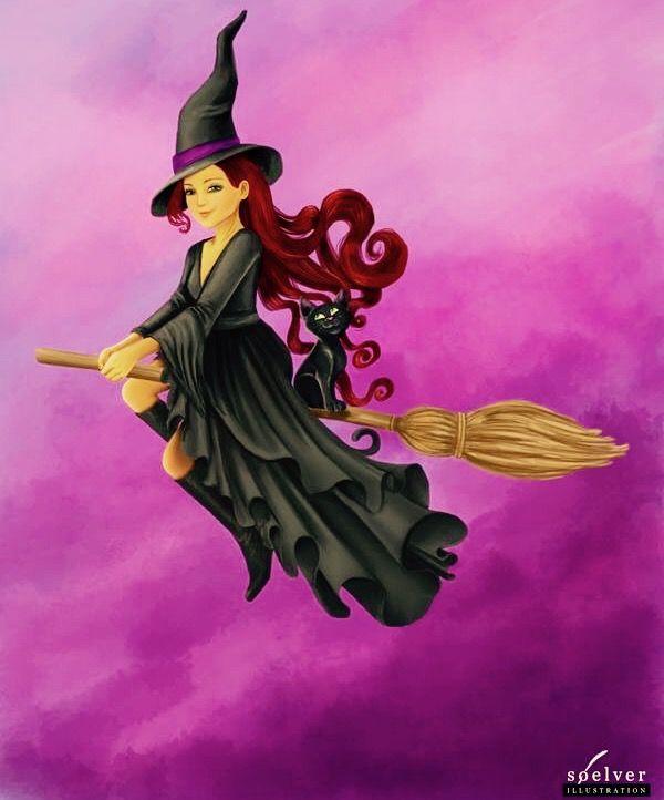 Ведьмочка открытка, прощаю тебя подруга