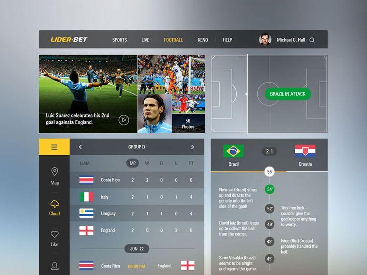 Sports UI by Levani Ambokadze
