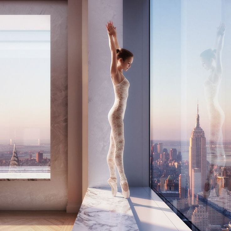 ballerina over NYC - NYC  #432ParkAvenue Project picture by @Dbox (www.dbox.com) model: Viktoria Model (www.viktoriamodel.com) www.facebook.com/viktorymodel
