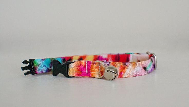 Cat Collar-Breakaway Cat Collar-Tie Dye Cat Collar-Boy Cat Collar-Girl Cat Collar-Cute Cat Collar-Designer Cat Collar-Custom Cat Collar by SLWdesignsCo on Etsy
