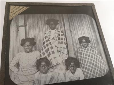 1900s Magic Lantern Slide native Women of Madagascar Africa