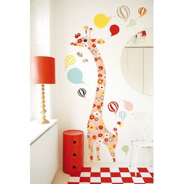 Wall Sticker - Giraffe Flower - Littlephant - Campadre.fi