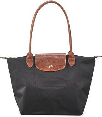 Longchamp Le Pliage Medium Monogramm Shoulder Tote Bag, Black