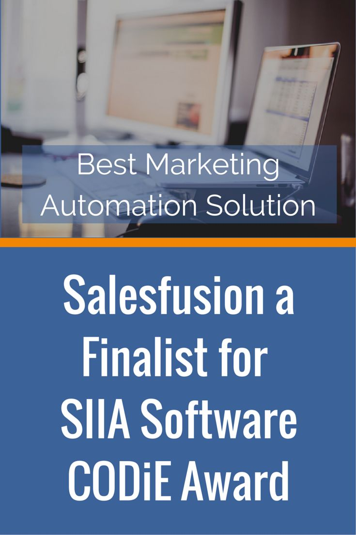 This award recognises the best solution for automating, managing and deploying marketing campaigns to customers, prospects and/or partners. Winners will be announced during a virtual awards ceremony on May 7, 2015. #marketingautomation #Salesfusion #emailmarketing