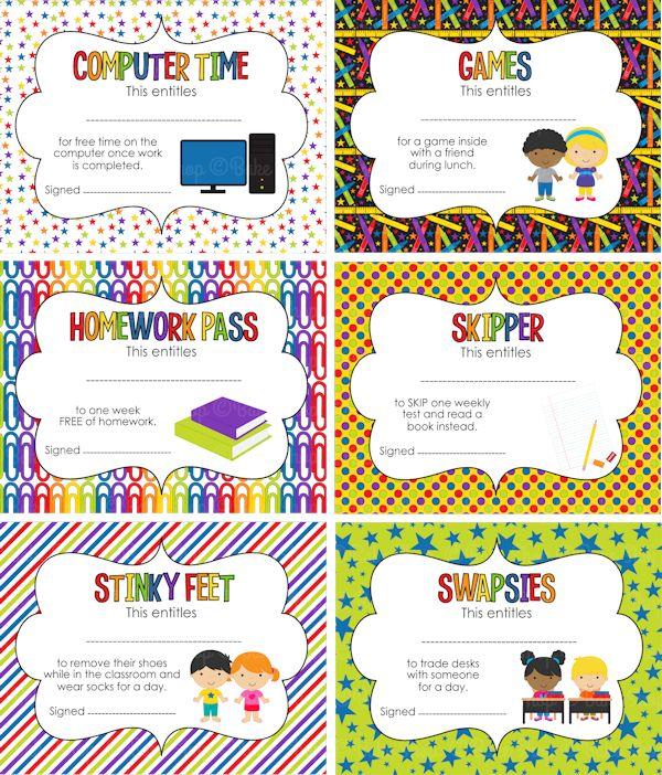 Classroom Award Ideas Elementary ~ Student awards printable classroom organization