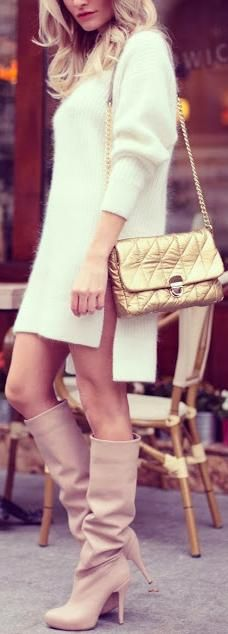Fall Fashion 2014♥✤ | Keep Smiling | BeStayBeautiful BOOTS...BAG...WOULD LIKE THE DRESS IF A LIL BIT LONGER,,,,CANT SIT DIWN IN THIS,  LOL!