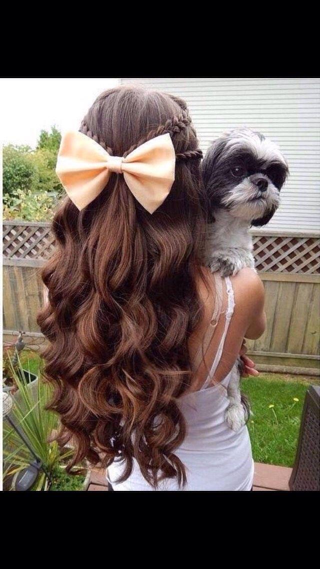 Cute Hairstyles With Bows❤️. #tipit#Hair#Trusper#Tip
