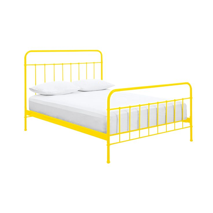 sunday sunshine yellow bed frame from domayne a yellow bed something different and refreshing