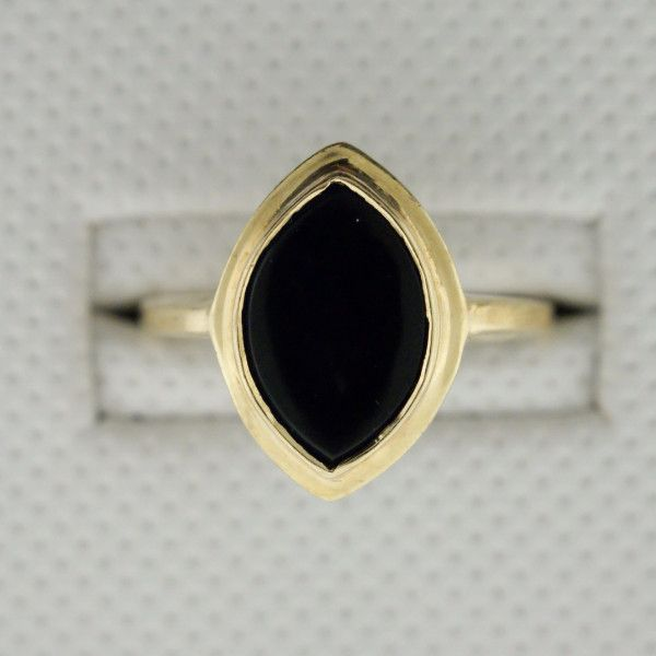 14k Yellow Gold, Black Onyx Ring. Size 8.5 NY state sales tax included. Free shipping through USPS. Available purchasing methods: Shopify, Paypal, email us at sheridansjewelers@gmail.com or contact us