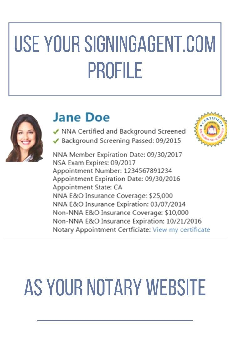 Use Your Signingagent Com Profile As Your Notary Website Notary