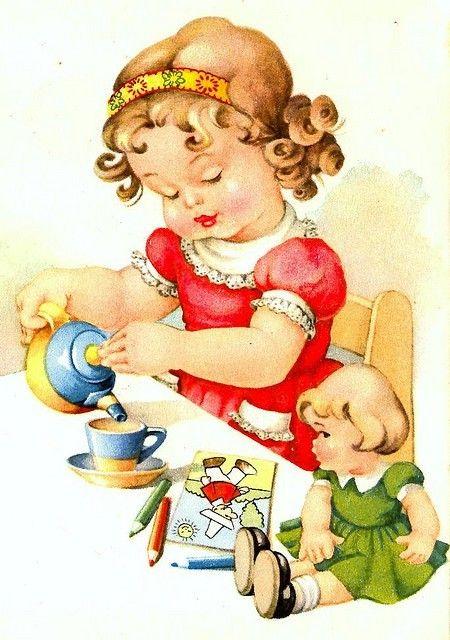vintage children's books illustrations | Ana Caldatto : Coleção Brinquedos minis Apetrechos de cozinha de ...