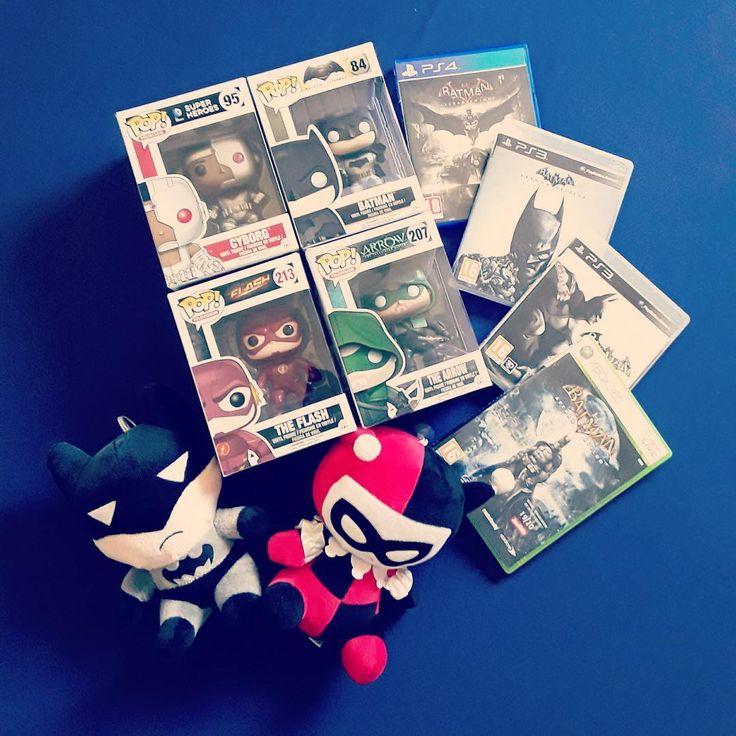 Mes bébés  #geek #geek #game #gameuse #harleyquinn #batman #ps4  #ps3 #xbox #popfunko #arrow #theflash #cyborg #figurine #followme #dccomics #dcuniverse