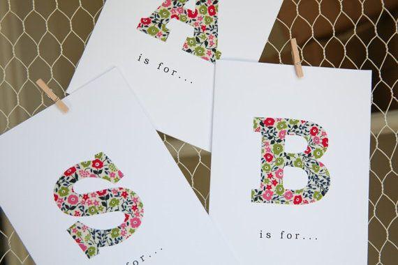 Alphabet Card by TortoiseandHareCards on Etsy