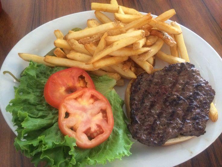 Classic burger at big city diner food experiences good