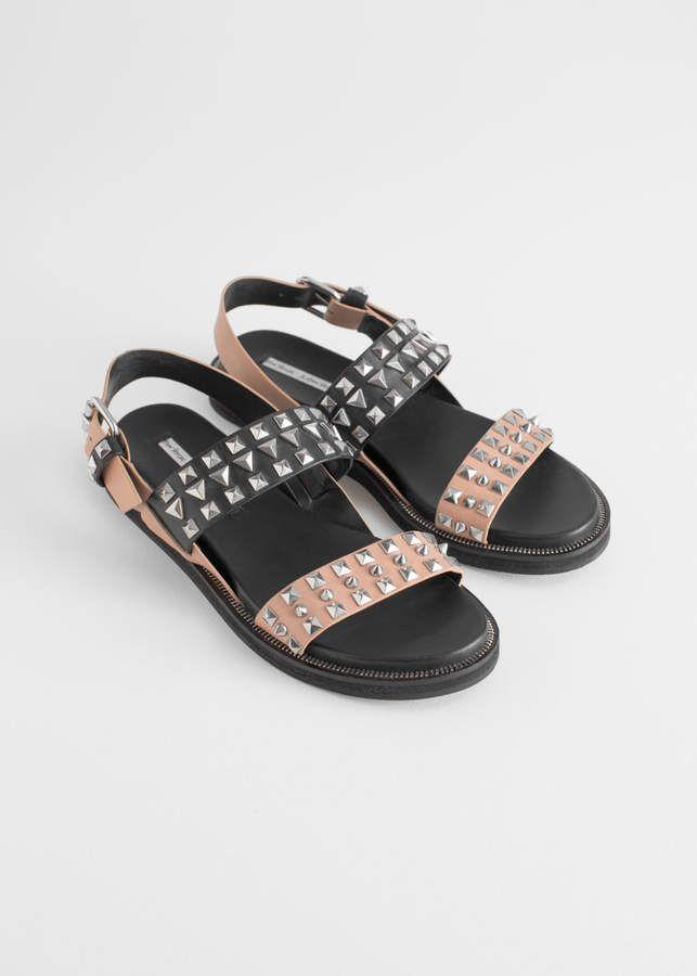 TwoTonedStuddedSandals summer sandals, summer shoes