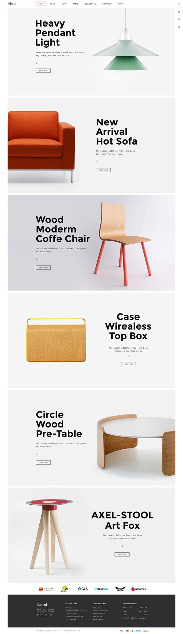 Abani – Multi Purpose eCommerce PSD Template for online Fashion, Furniture…