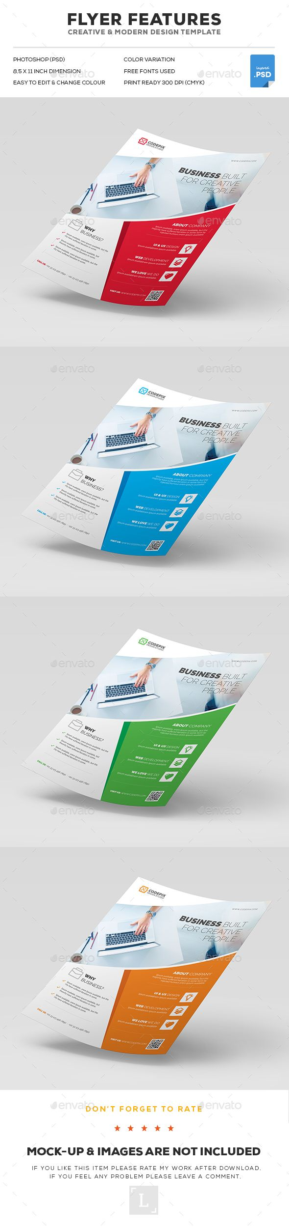 Flyer  -  PSD Template • Only available here! ➝ https://graphicriver.net/item/flyer/17186203?ref=pxcr