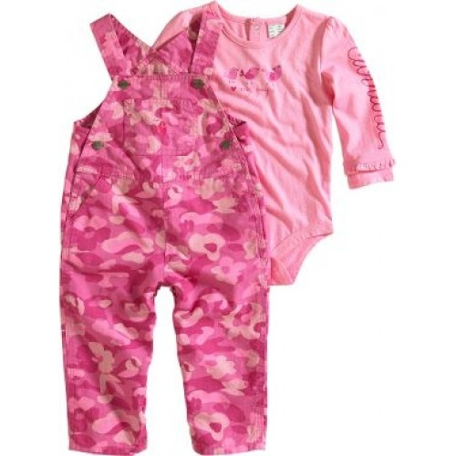 Carhartt Infant Girls Ripstop Overall Set Closeout $12