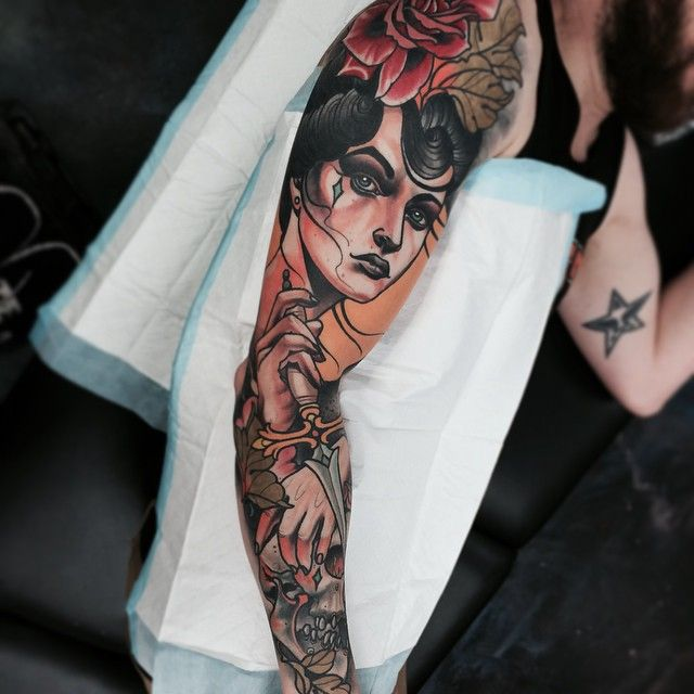 Neo Traditional Tattoos <3 By tattoo artist Jacob Gardner