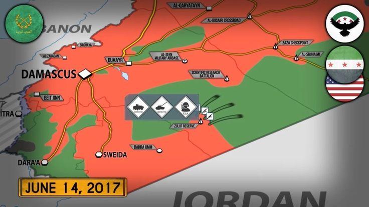 15 июня 2017. Военная обстановка в Сирии. Атака американских сил на сири...