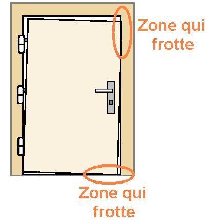 reparer une porte qui frotte ou ferme mal 0