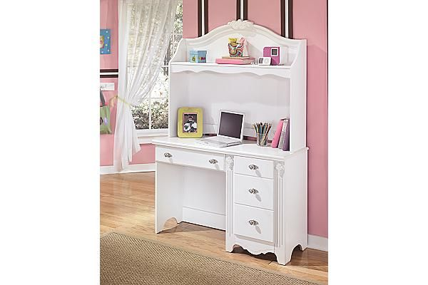 "The Exquisite Bedroom Desk from Ashley Furniture HomeStore (AFHS.com). With the exquisite beauty of formal French style brought to life within a country motif, the ""Exquisite"" youth bedroom collection is sure to create a sense of magic and wonder to any child's bedroom."