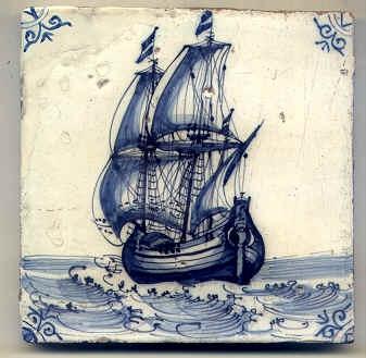 Dutch 17th century Delft tile